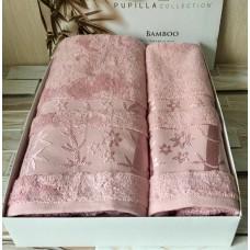 Полотенце бамбуковое / розовый