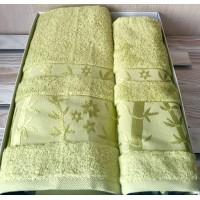 Полотенце бамбук / салатовый
