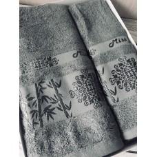 Полотенце бамбуковое ТМ Philippus / серо-зеленый