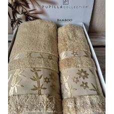 Полотенце бамбук /бежевое