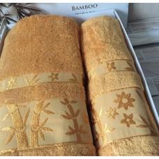 Полотенце бамбук / горчичный