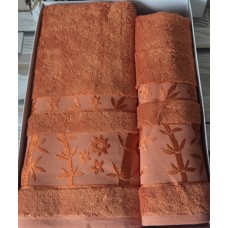 Полотенце бамбук / терракотовый