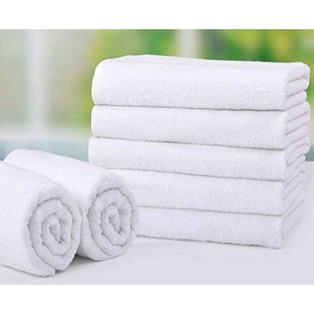Белое махровое полотенце 450